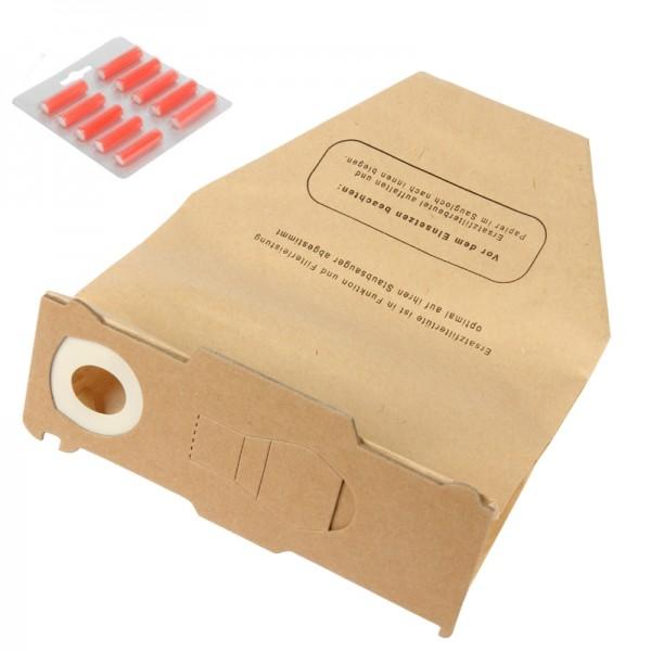 10 Filtertüten, 10 Duft geeignet für Vorwerk Kobold 130, 131, 131SC