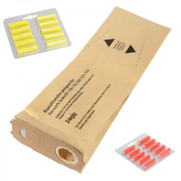 20 Staubsaugerbeutel 20 Duft geeignet für Vorwerk Kobold 118 bis 122