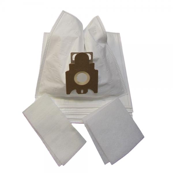 30 Staubsaugerbeutel geeignet für für Miele Amaranth, Aquamarin Filtertüten